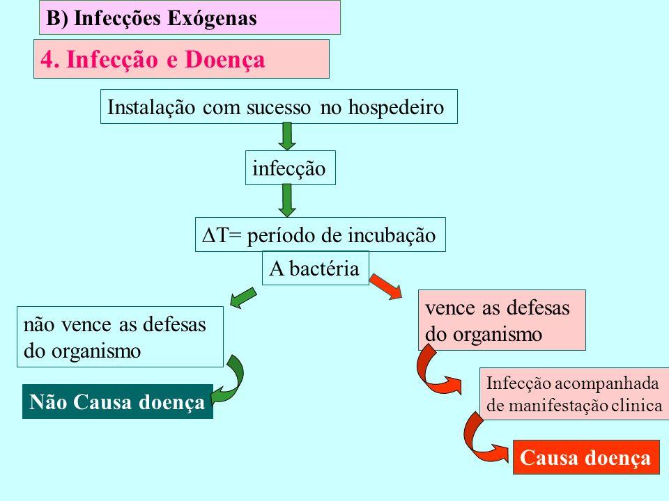 4. Infecção e Doença B) Infecções Exógenas