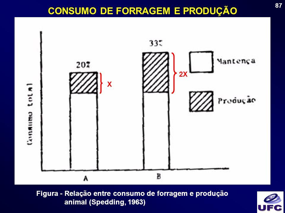 CONSUMO DE FORRAGEM E PRODUÇÃO