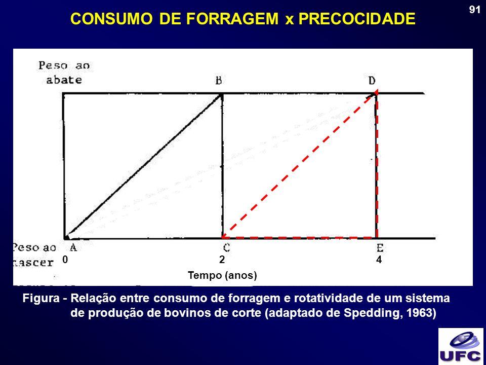 CONSUMO DE FORRAGEM x PRECOCIDADE