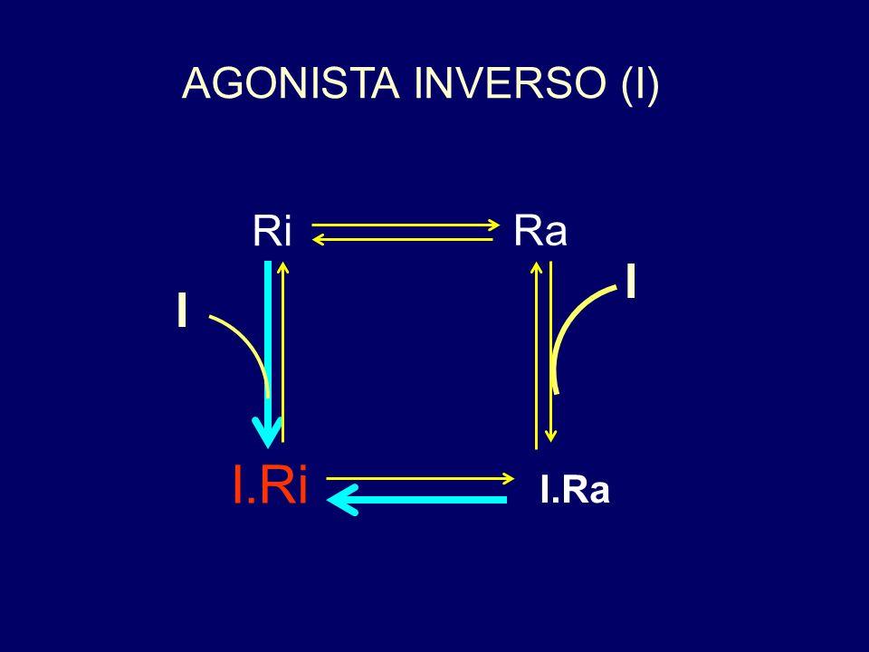 AGONISTA INVERSO (I) Ri Ra I I I.Ri I.Ra