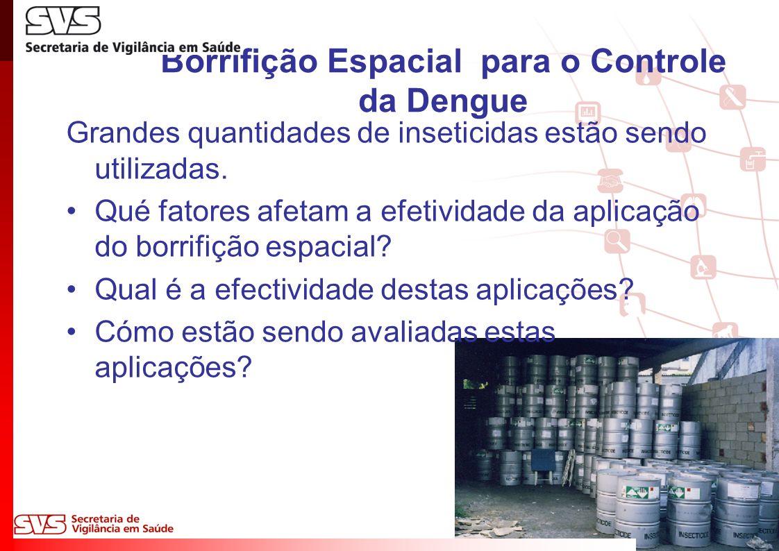 Borrifição Espacial para o Controle da Dengue