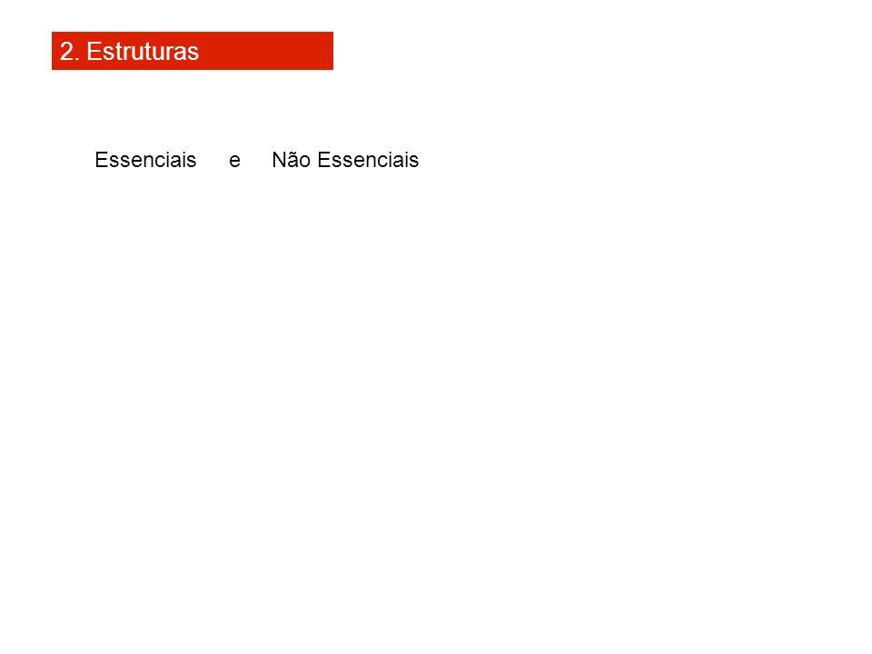 2. Estruturas Essenciais e Não Essenciais