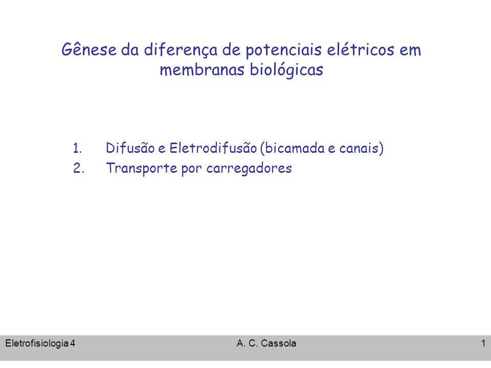 Gênese da diferença de potenciais elétricos em membranas biológicas