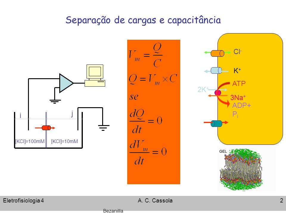 Separação de cargas e capacitância