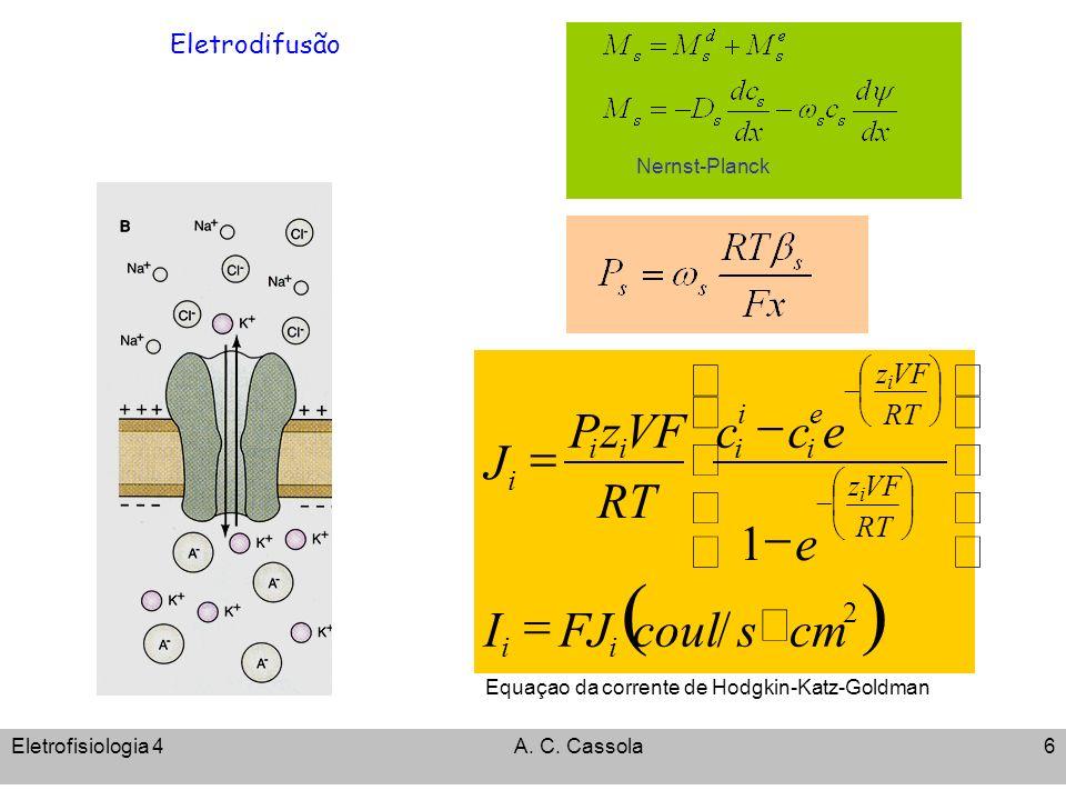 ( ) / 1 cm s coul FJ I e c RT VF z P J ´ = ÷ ø ö ç è æ - 2 i