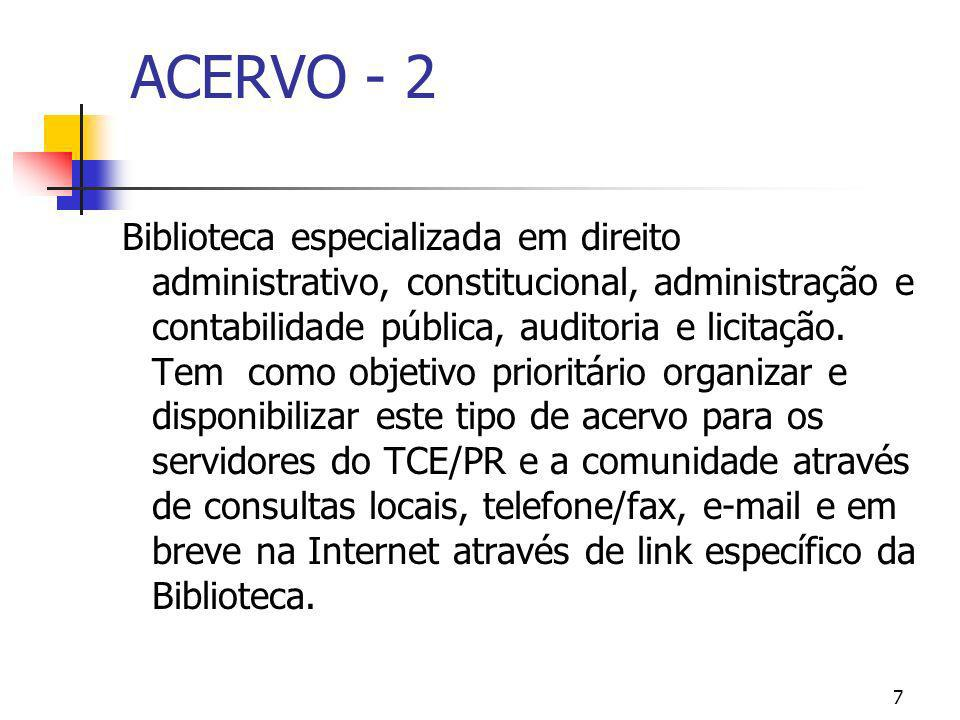 ACERVO - 2