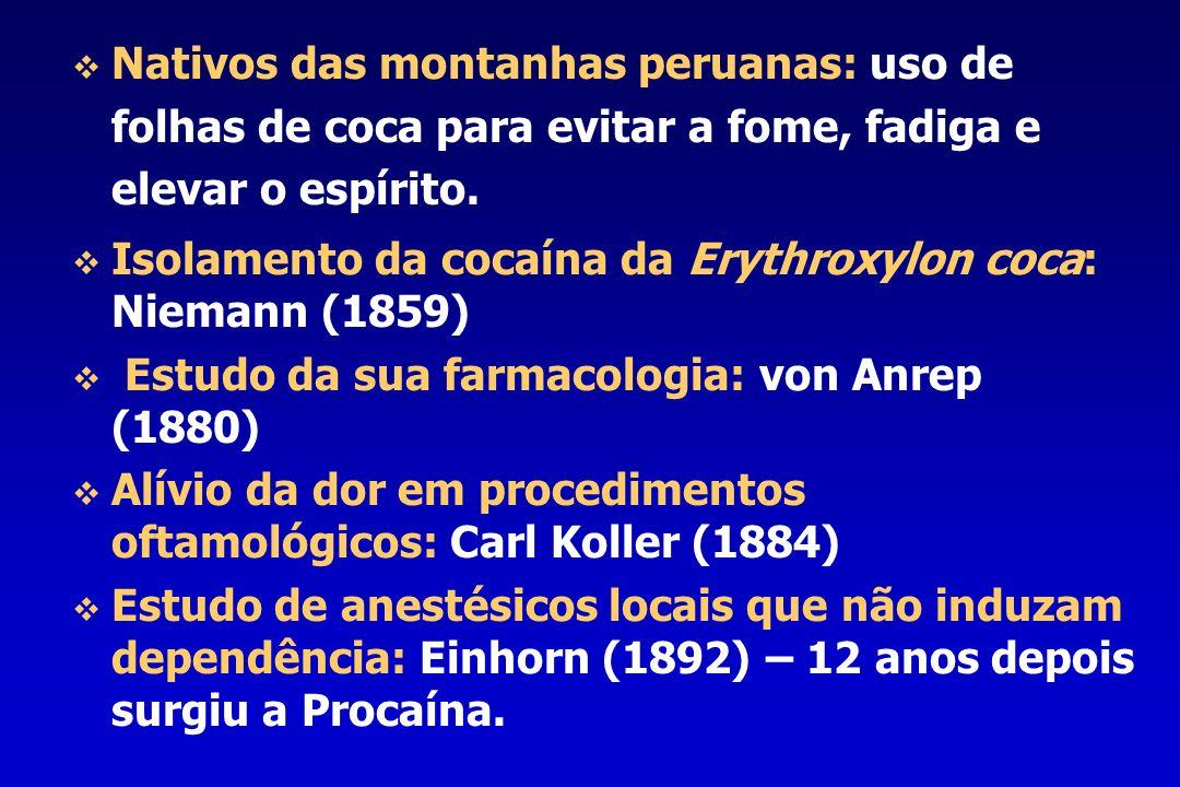 Isolamento da cocaína da Erythroxylon coca: Niemann (1859)