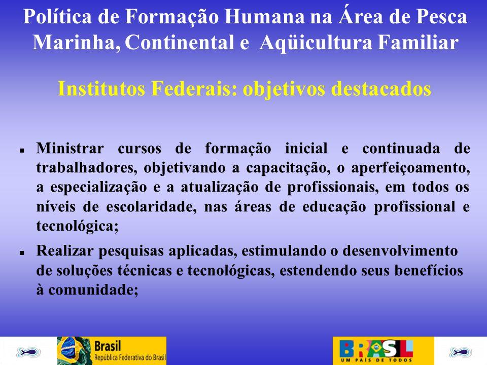 Institutos Federais: objetivos destacados