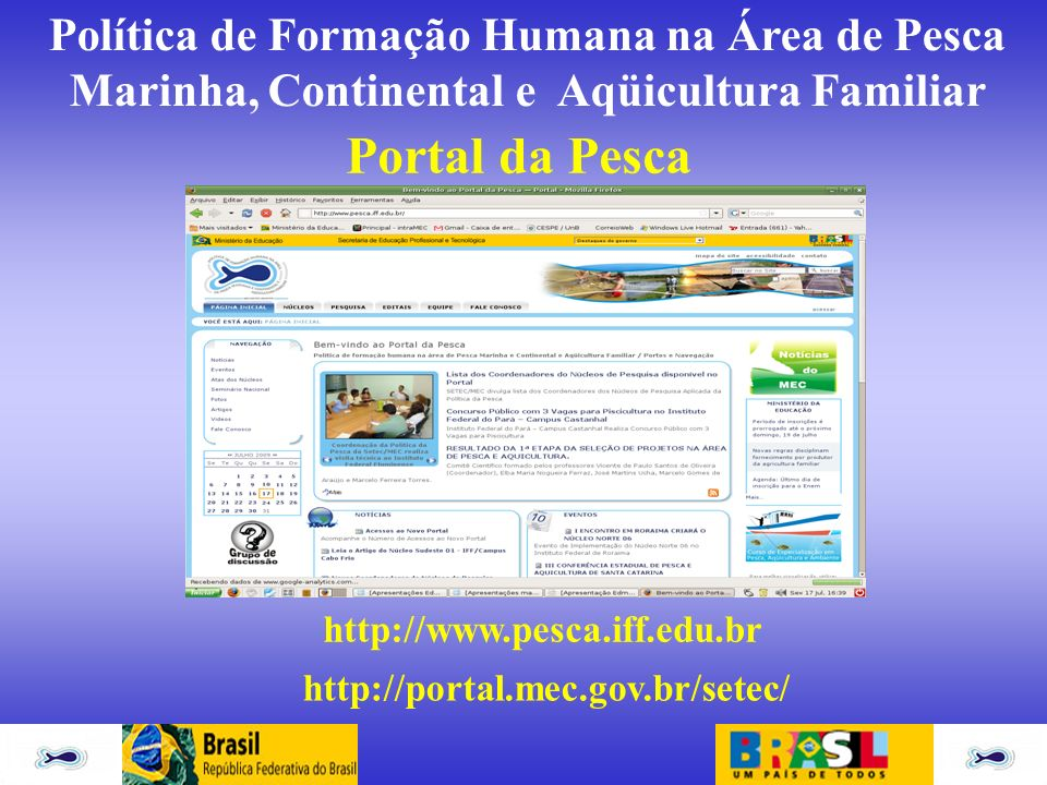 Portal da Pesca http://www.pesca.iff.edu.br