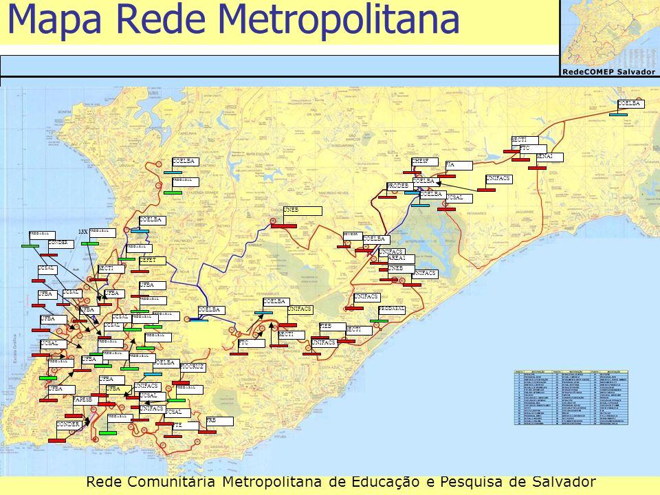Mapa Rede Metropolitana
