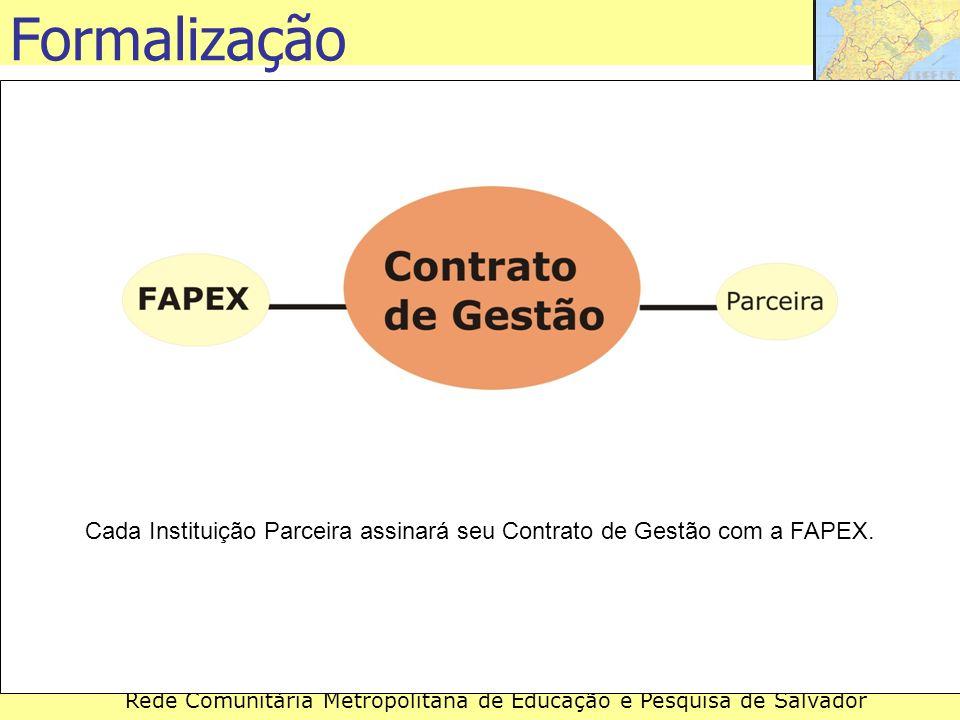 Cada Instituição Parceira assinará seu Contrato de Gestão com a FAPEX.