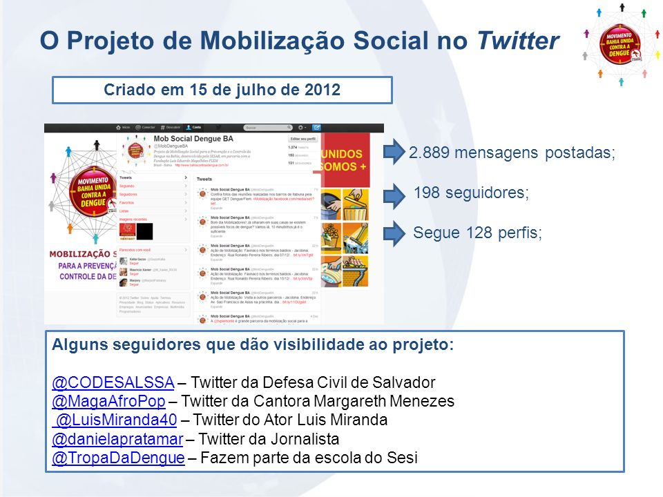 O Projeto de Mobilização Social no Twitter