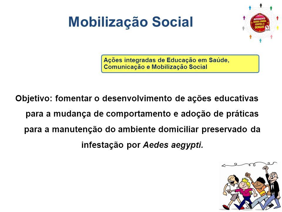 Mobilização Social Ações integradas de Educação em Saúde, Comunicação e Mobilização Social.