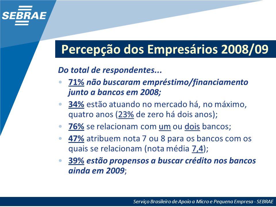 Percepção dos Empresários 2008/09