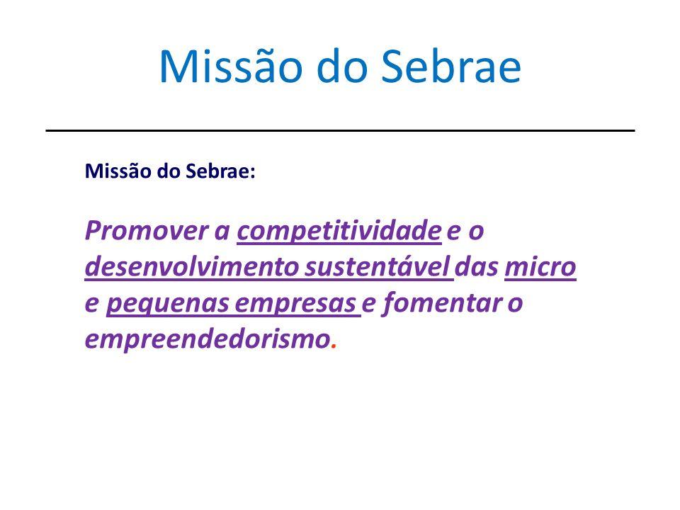 Missão do Sebrae Missão do Sebrae: