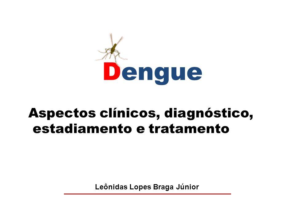 Dengue Aspectos clínicos, diagnóstico, estadiamento e tratamento