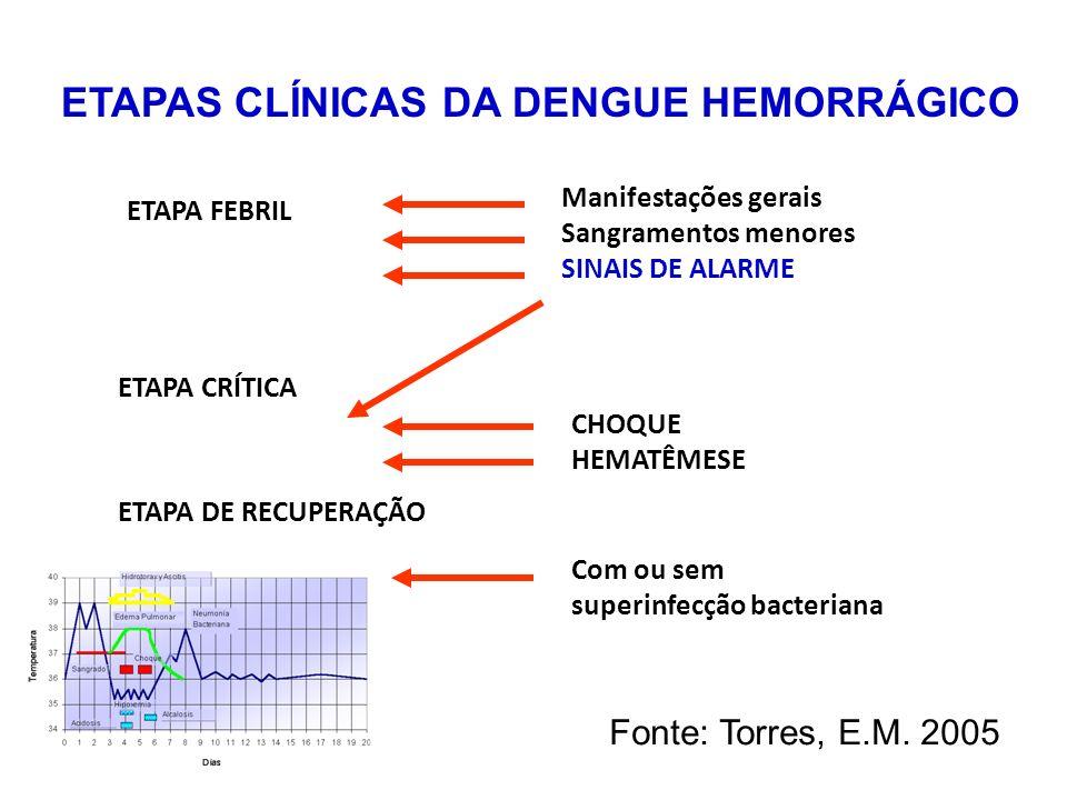 ETAPAS CLÍNICAS DA DENGUE HEMORRÁGICO
