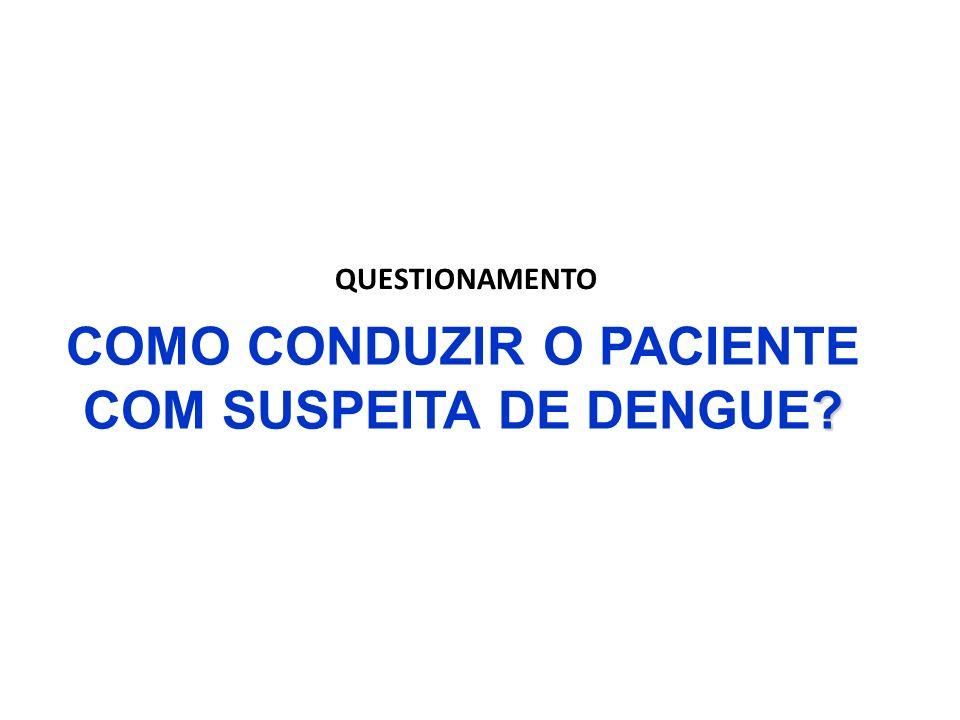 COMO CONDUZIR O PACIENTE COM SUSPEITA DE DENGUE