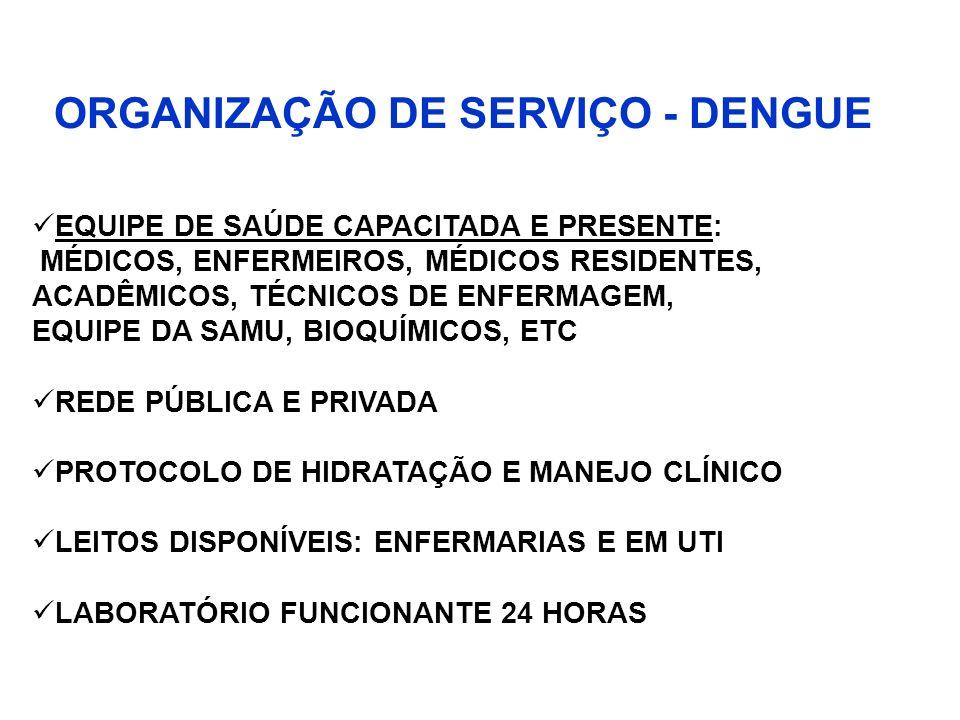 ORGANIZAÇÃO DE SERVIÇO - DENGUE