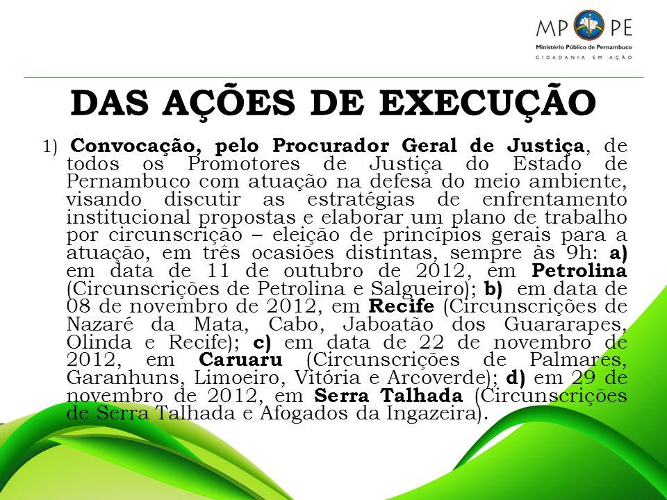 DAS AÇÕES DE EXECUÇÃO