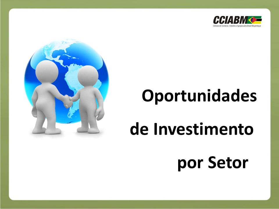 Oportunidades de Investimento por Setor