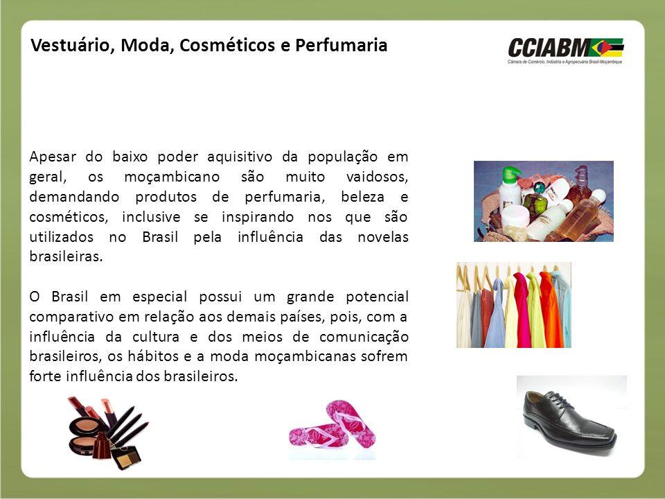 Vestuário, Moda, Cosméticos e Perfumaria