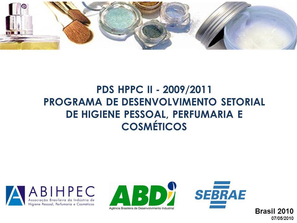 PDS HPPC II - 2009/2011 PROGRAMA DE DESENVOLVIMENTO SETORIAL DE HIGIENE PESSOAL, PERFUMARIA E COSMÉTICOS