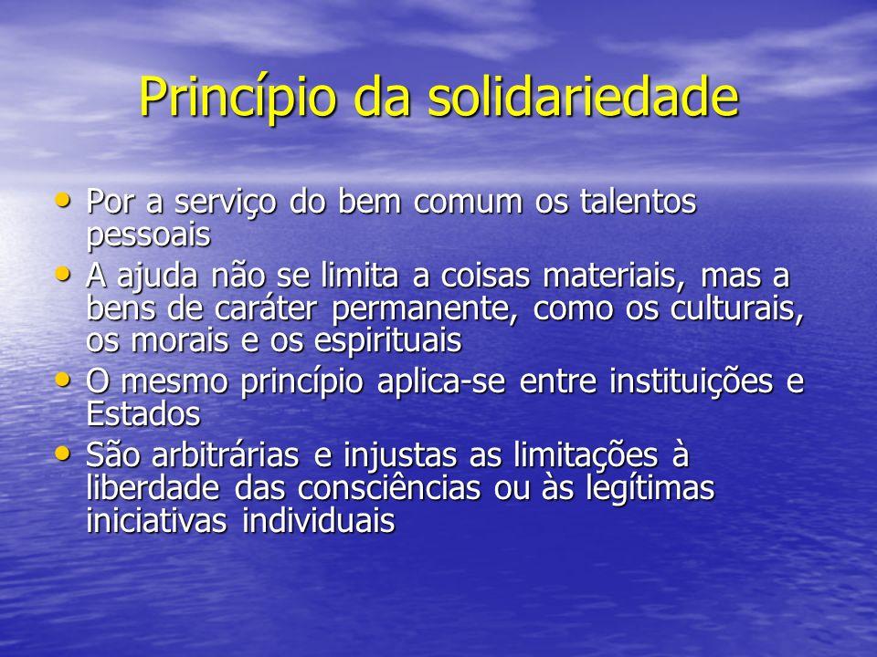 Princípio da solidariedade