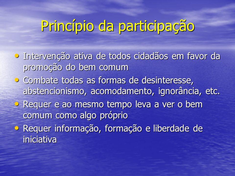 Princípio da participação
