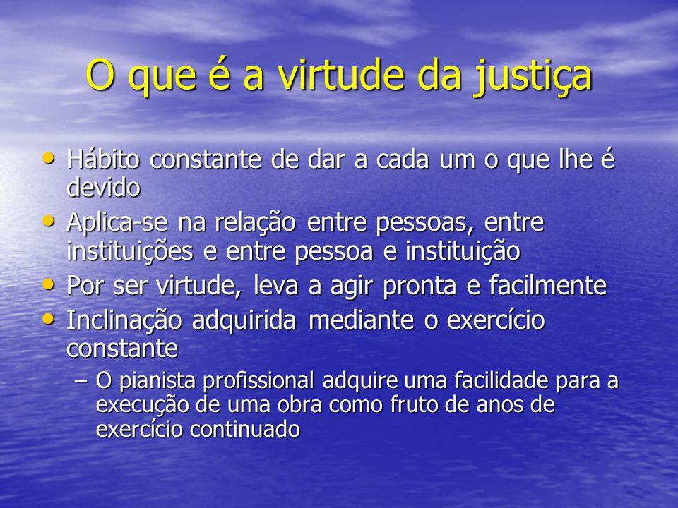 O que é a virtude da justiça