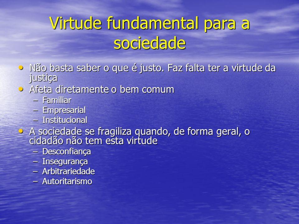 Virtude fundamental para a sociedade