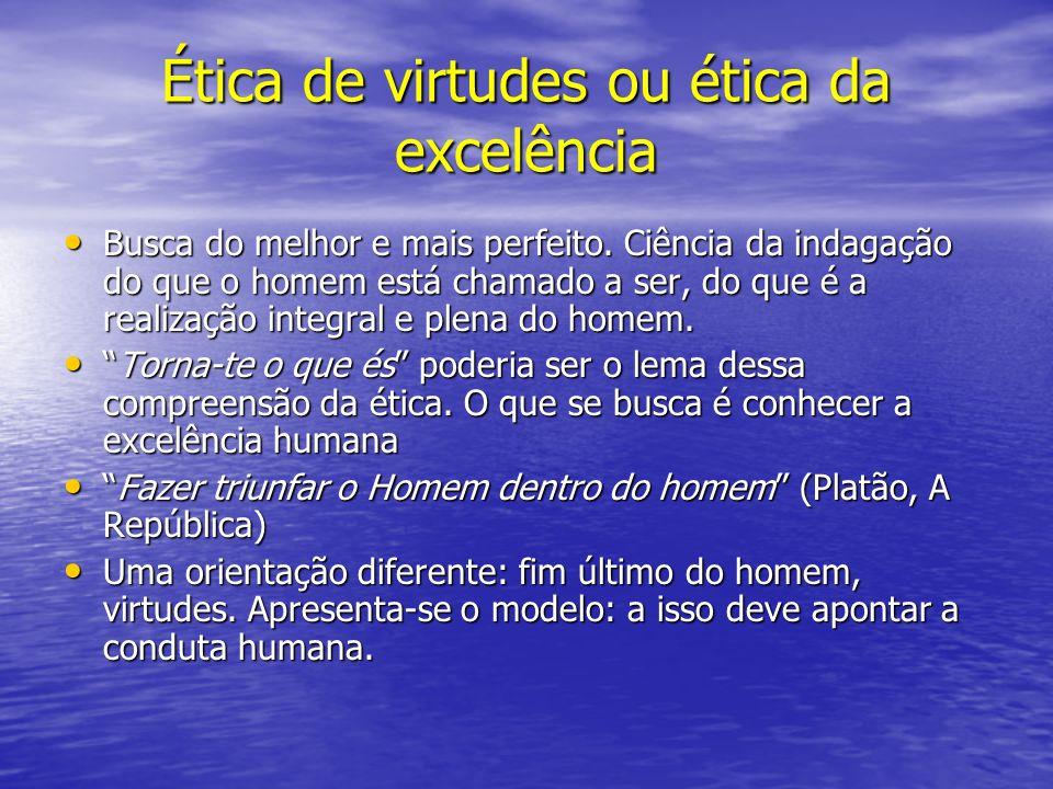 Ética de virtudes ou ética da excelência
