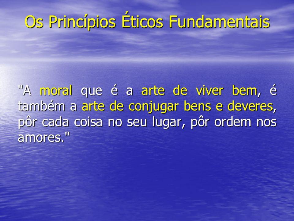 Os Princípios Éticos Fundamentais