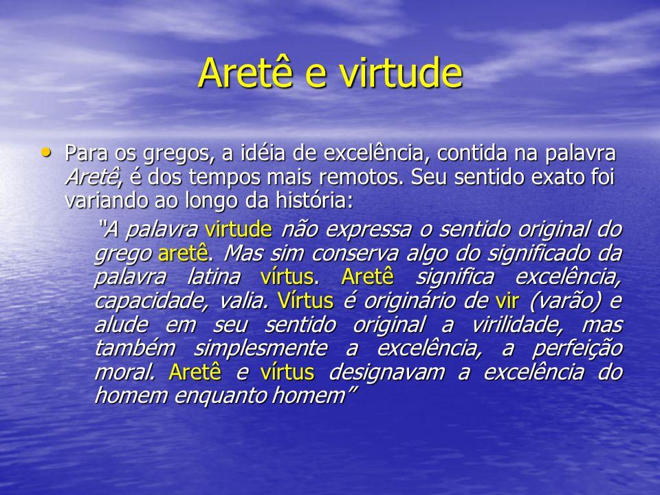 Aretê e virtude