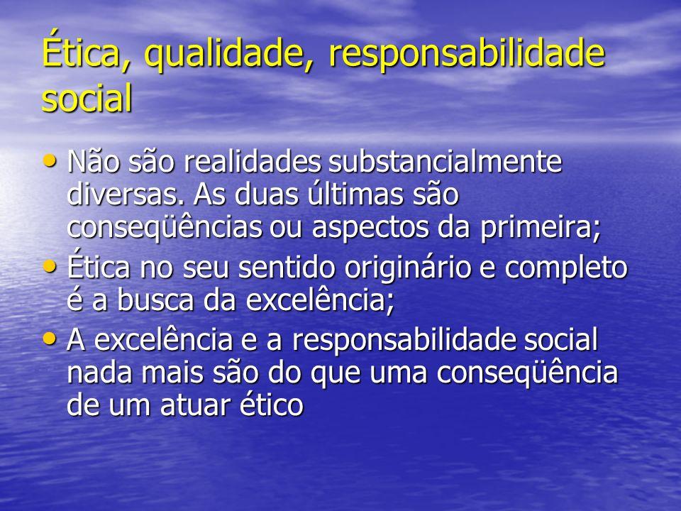Ética, qualidade, responsabilidade social