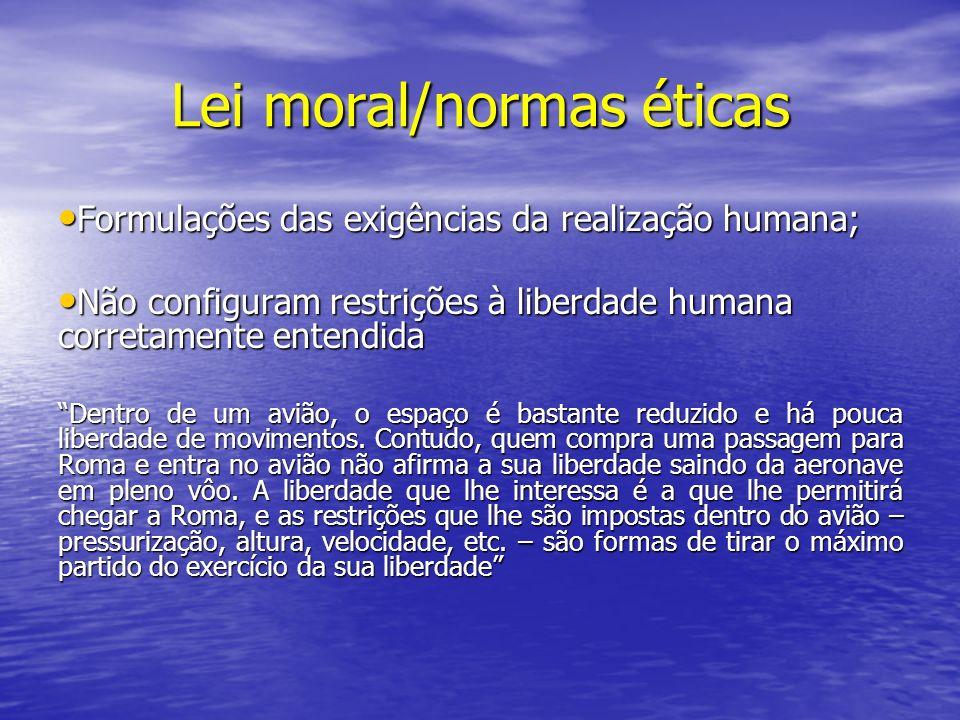 Lei moral/normas éticas