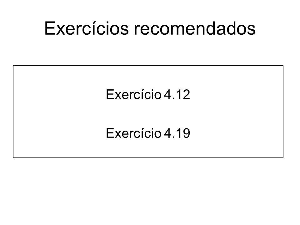 Exercícios recomendados
