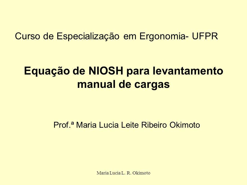 Equação de NIOSH para levantamento manual de cargas