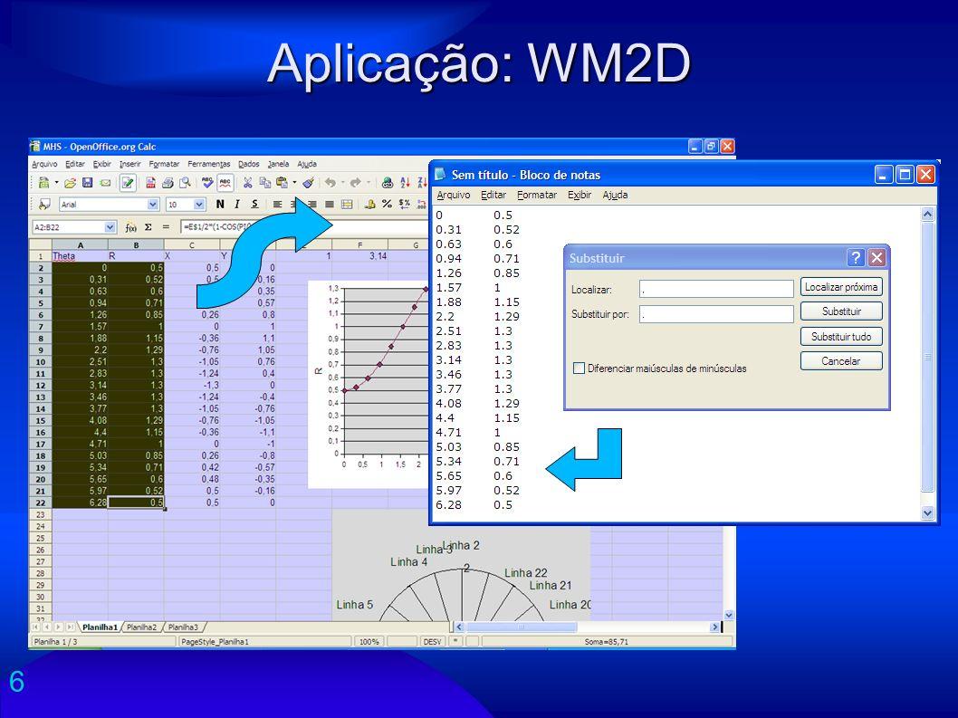 Aplicação: WM2D