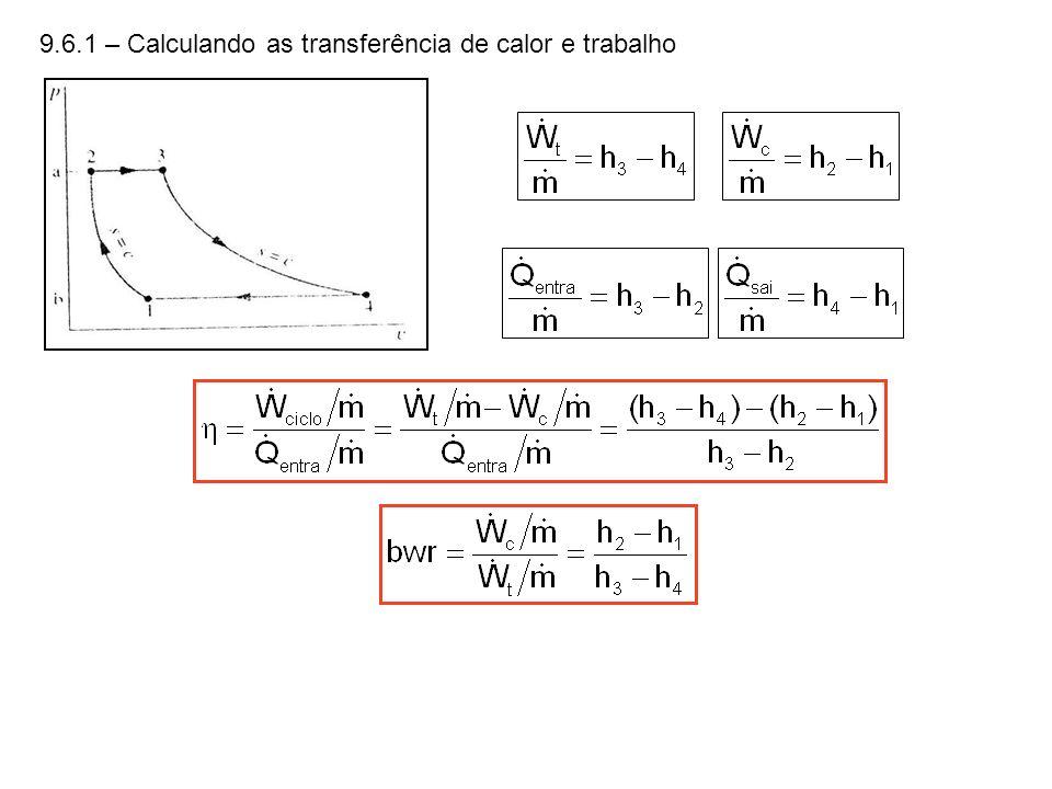 9.6.1 – Calculando as transferência de calor e trabalho