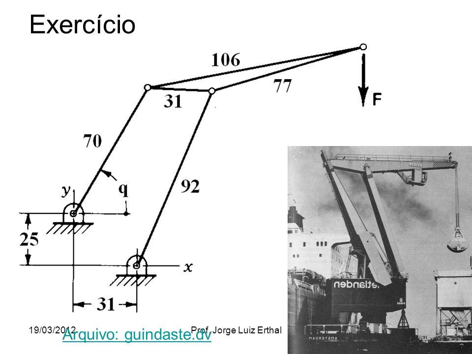 Exercício 19/03/2012 Arquivo: guindaste.dv Prof. Jorge Luiz Erthal