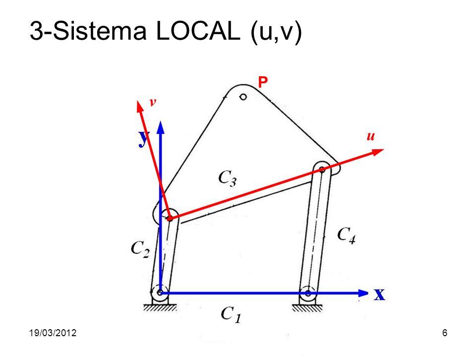 3-Sistema LOCAL (u,v) P v u 19/03/2012 Prof. Jorge Luiz Erthal