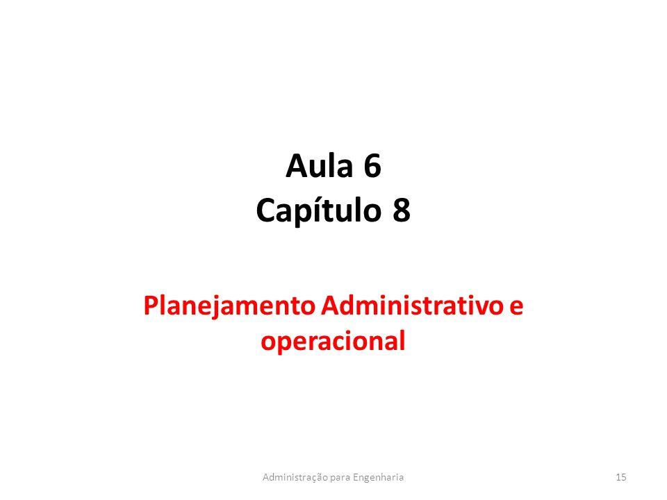 Planejamento Administrativo e operacional