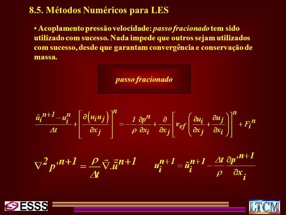 8.5. Métodos Numéricos para LES