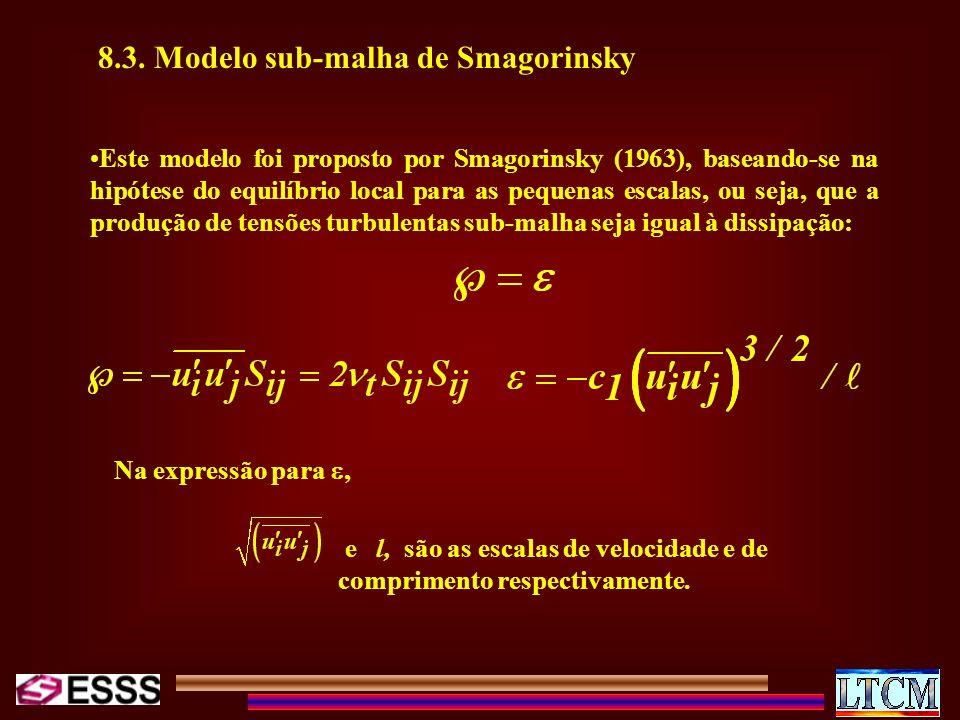 8.3. Modelo sub-malha de Smagorinsky