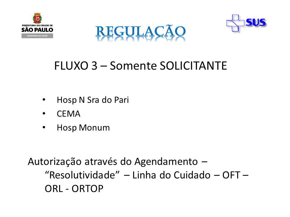 FLUXO 3 – Somente SOLICITANTE