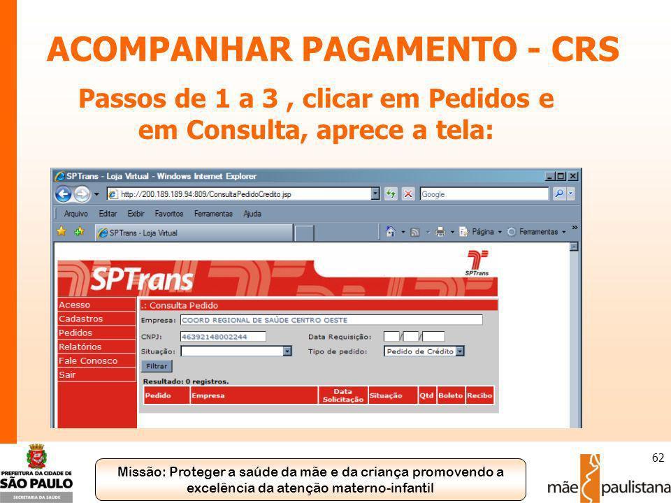 ACOMPANHAR PAGAMENTO - CRS