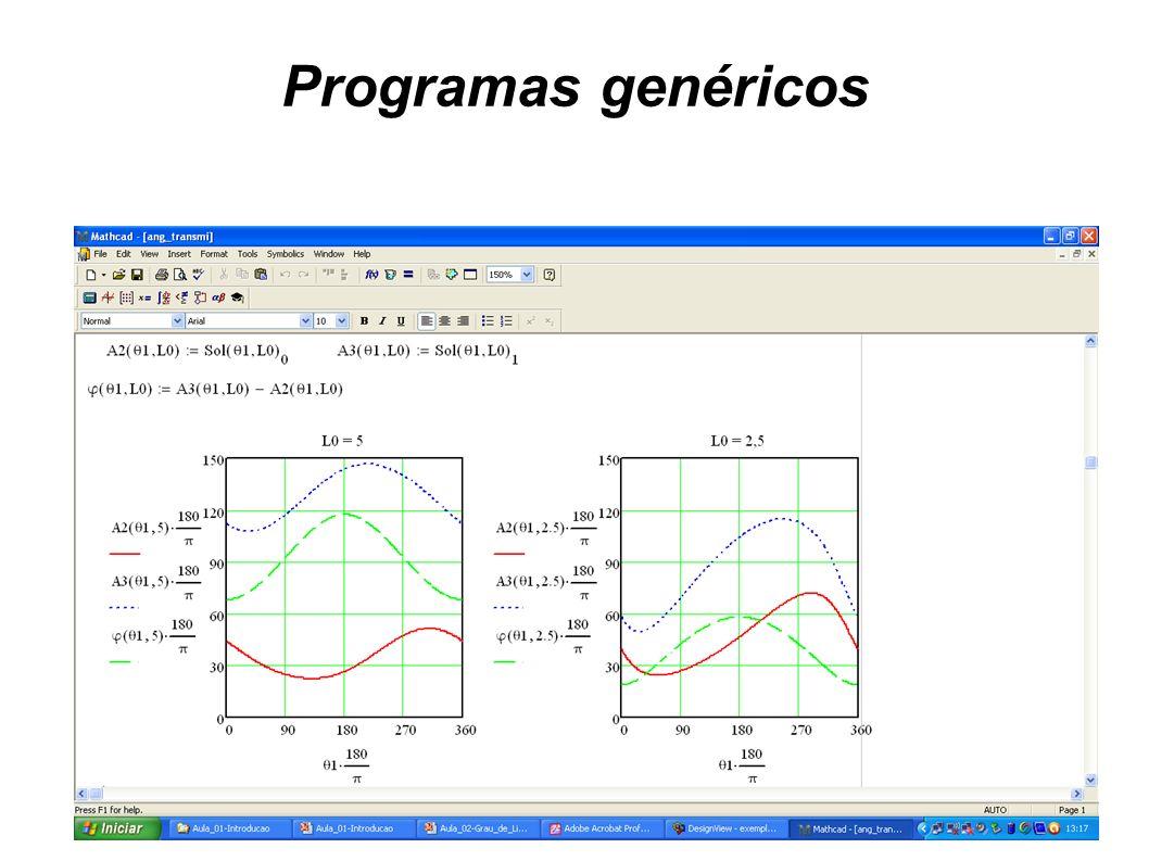 Programas genéricos Mathcad