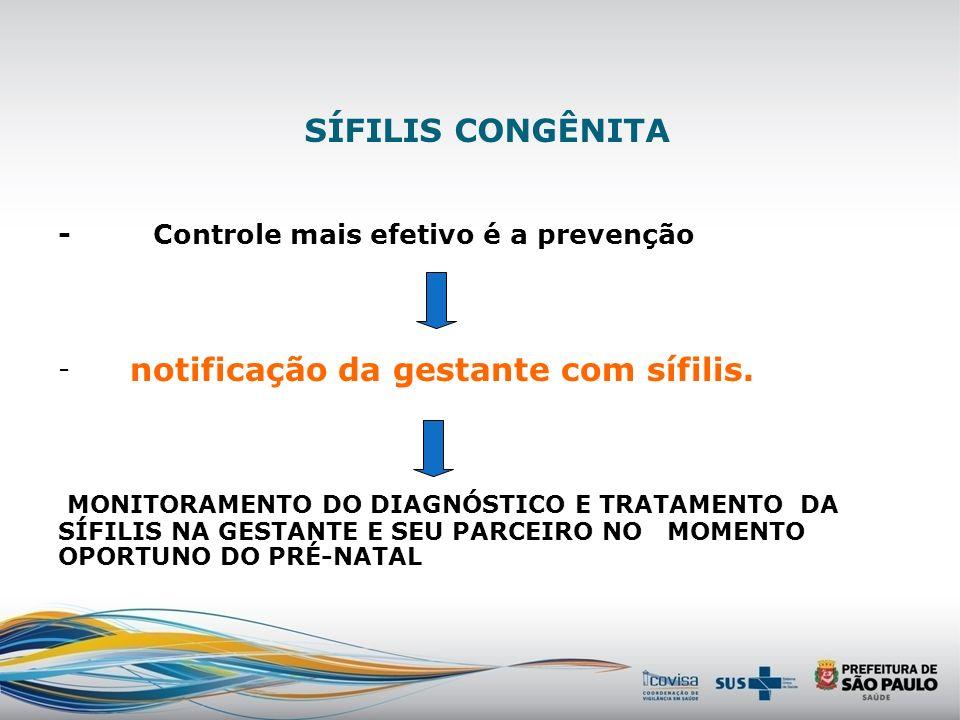 notificação da gestante com sífilis.