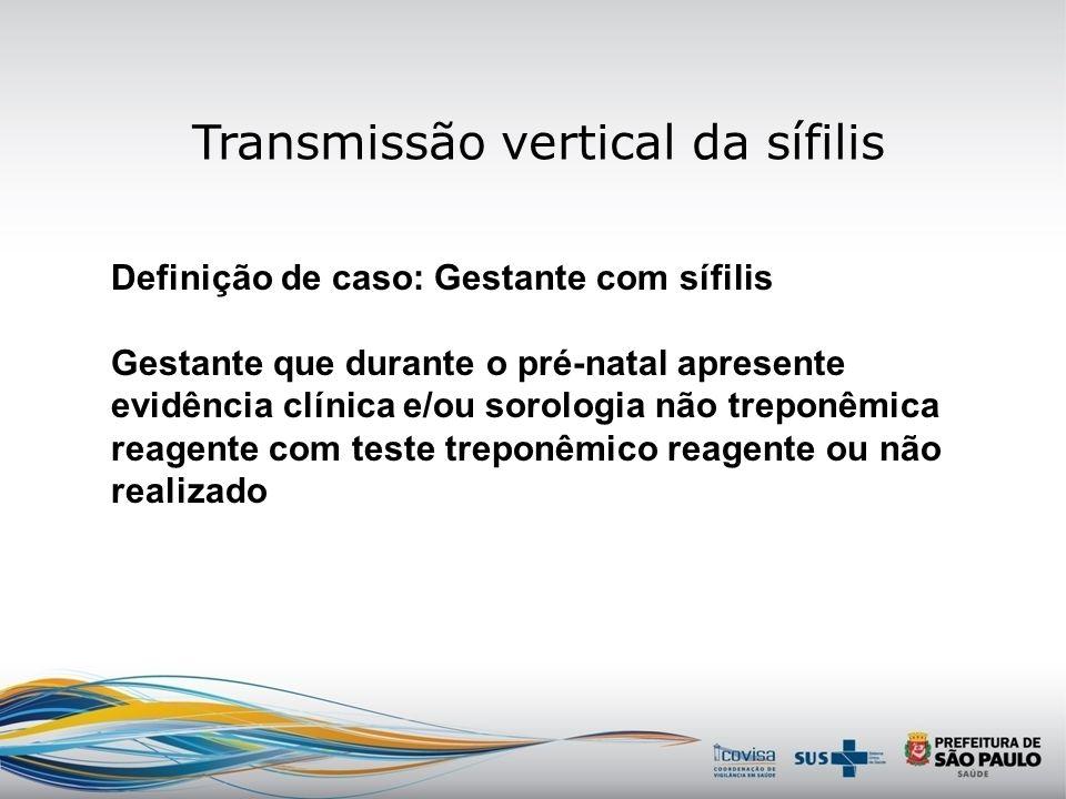 Transmissão vertical da sífilis